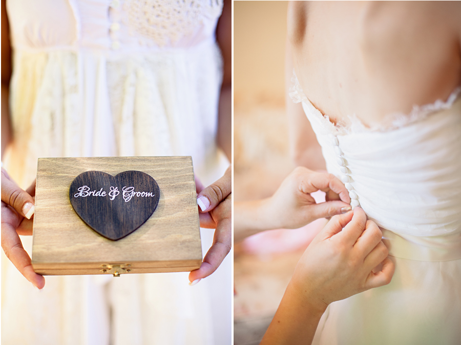 Detail ring and dress pictures for Campovida Wedding