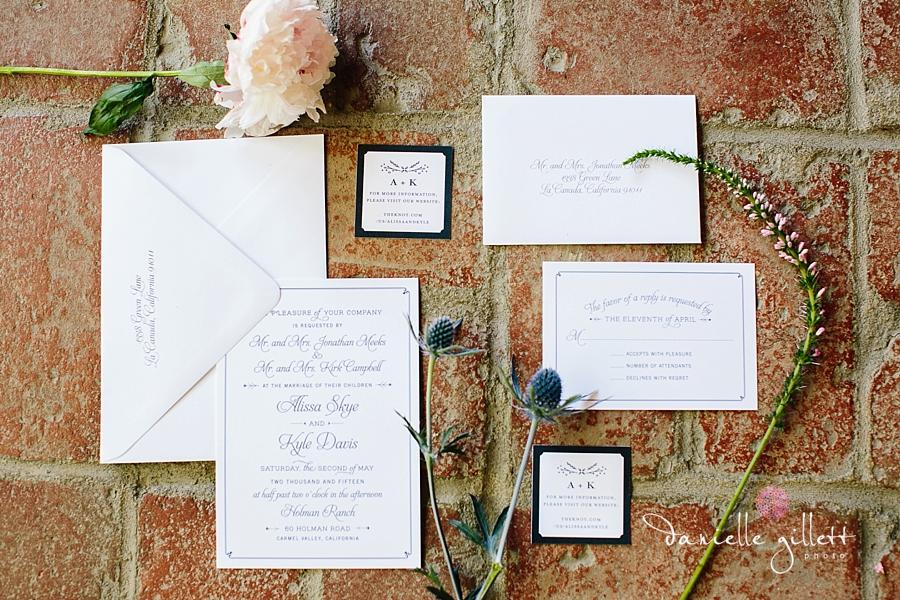Holman Ranch Wedding Photography. Wedding photography in Carmel Valley. Outdoor wedding photography. Hacienda Wedding invitation