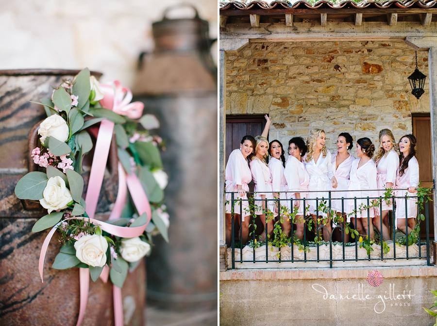 Holman Ranch Wedding Photography. Wedding photography in Carmel Valley. Outdoor wedding photography. Hacienda Wedding. Bridesmaids in robes