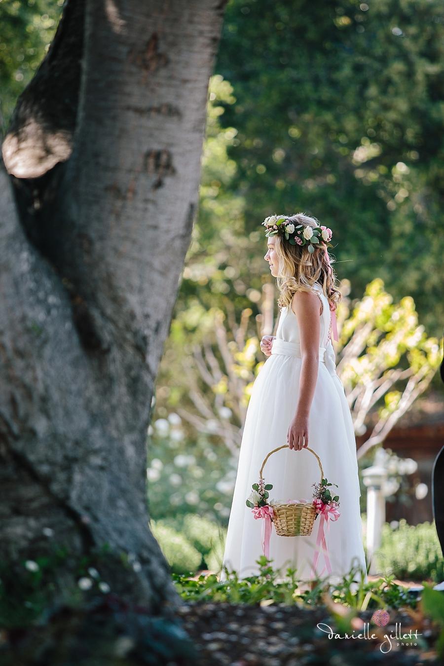 Holman Ranch Wedding Photography. Wedding photography in Carmel Valley. Outdoor wedding photography. Hacienda Wedding. flower girl photos