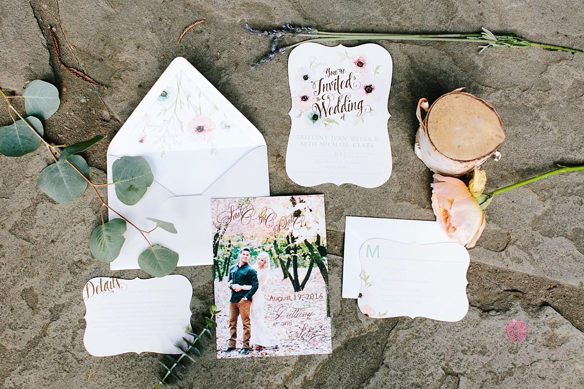 Danielle Gillett Photography, Wedding Photographer, Nestldown, Whimsical Wedding, Invitation