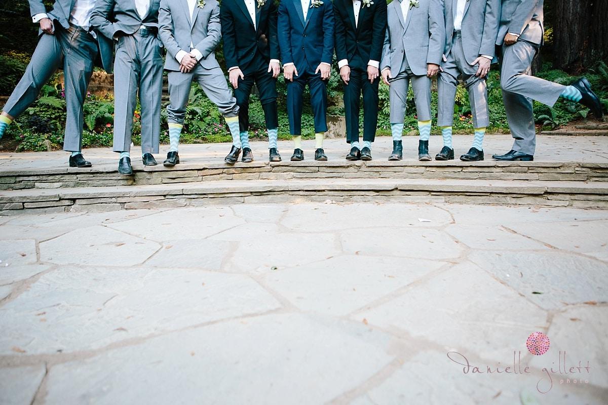 Nesldown Wedding, Danielle Gillett Photography, Whimsical Wedding, Bohemian Wedding, Bay Area Wedding, Fairytale wedding, Santa Cruz Wedding, Redwood Wedding, Outdoor Wedding, Groomsmen, Socks