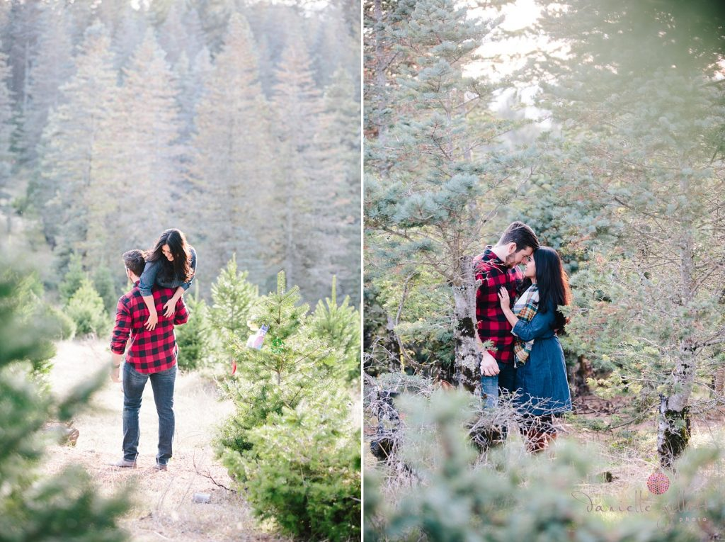 Outdoor Engagement session at Christmas Tree Farm in Santa Cruz