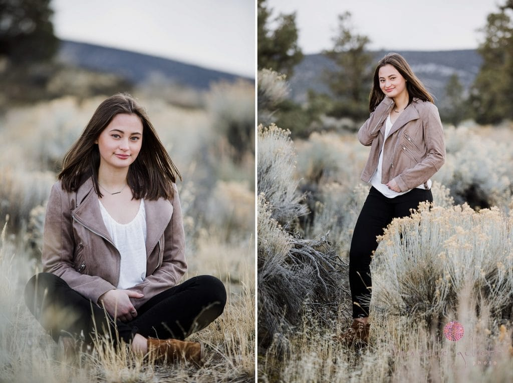 senior pictrues in Badlands Desert Central Oregon.
