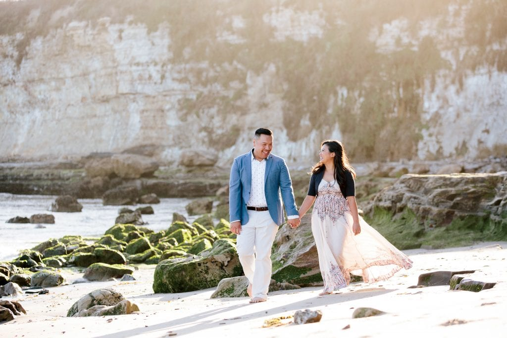 Beach Engagement session in Santa Cruz