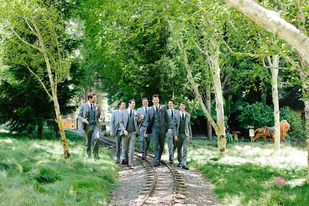 Groomsmen at Nestldown Wedding
