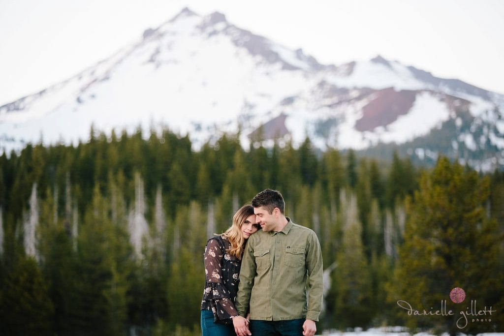Bend Engagement session at Mt Bachelor. Bend wedding photographer
