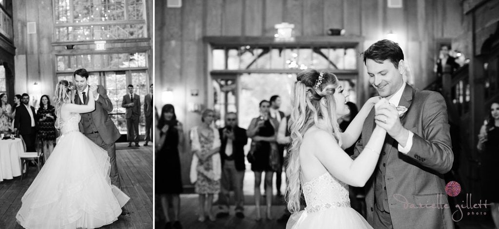 First dance in Nestldown Barn at Nestldown Wedding