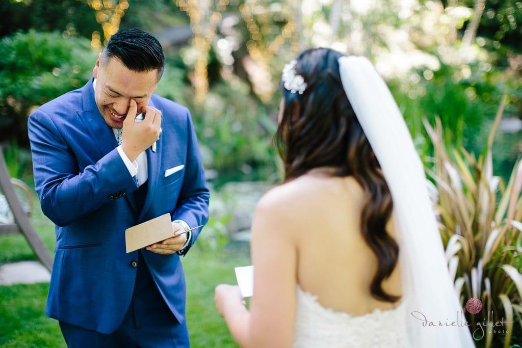 Nestldown Wedding, Frist look for bride and groom
