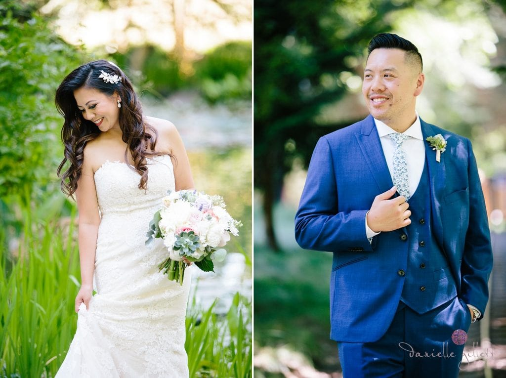 Nestldown Wedding, Bride and Groom at Nestldown
