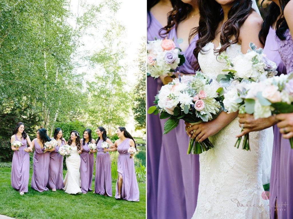 Nestldown Wedding, Bridesmaids at Nestldown