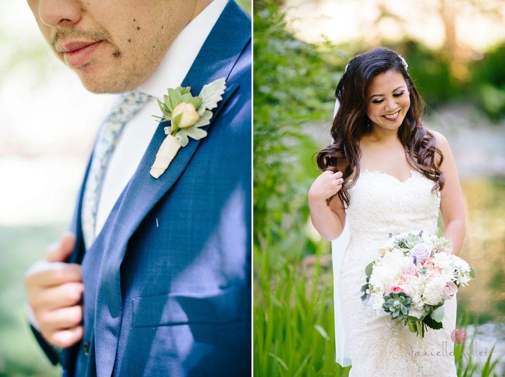 Nestldown Wedding, Bride and Groom
