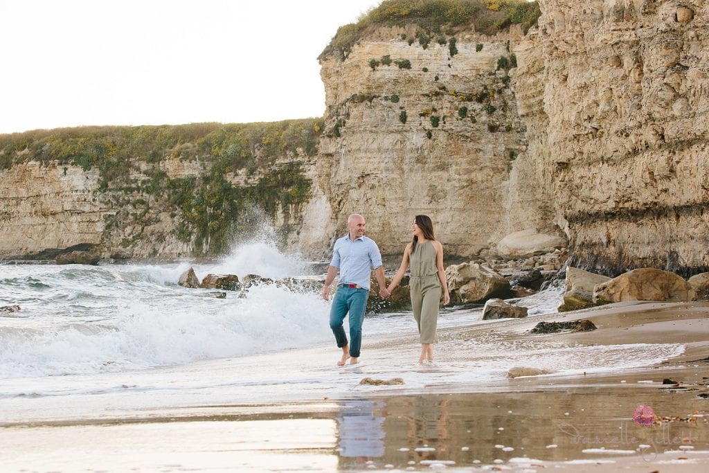 Santa Santa Cruz Beach Engagement Cruz Beach Engagement