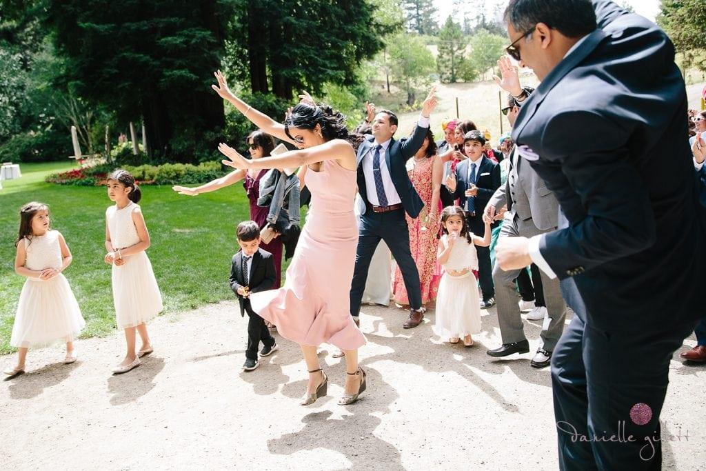 Nestldown Wedding, Groom riding horse for Baraat Ceremony