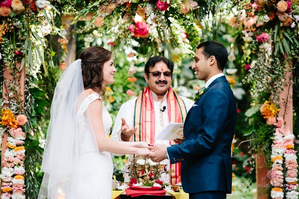 Nestldown Wedding, Ceremony in the redwoods