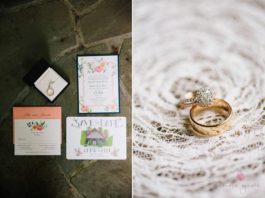 Nestldown Wedding, Detail shot of rings