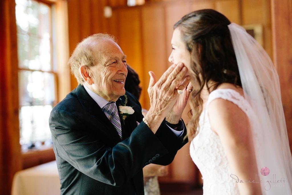 Nestldown Wedding, Bride with grandpa