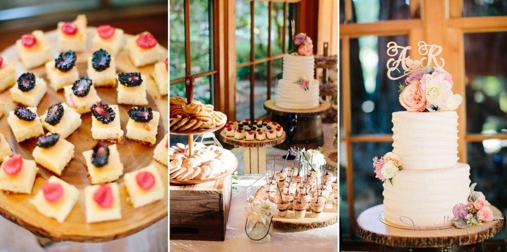Nestldown Wedding, Dessert bar in the barnat Nestldown