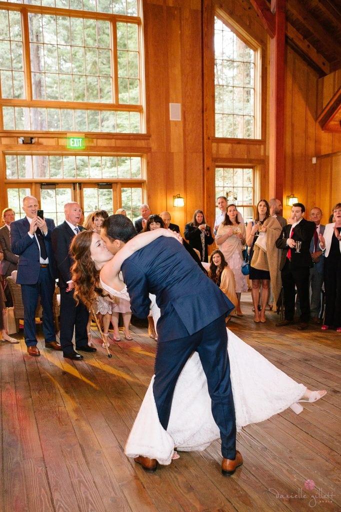 Nestldown Wedding, first dance at Nestldown