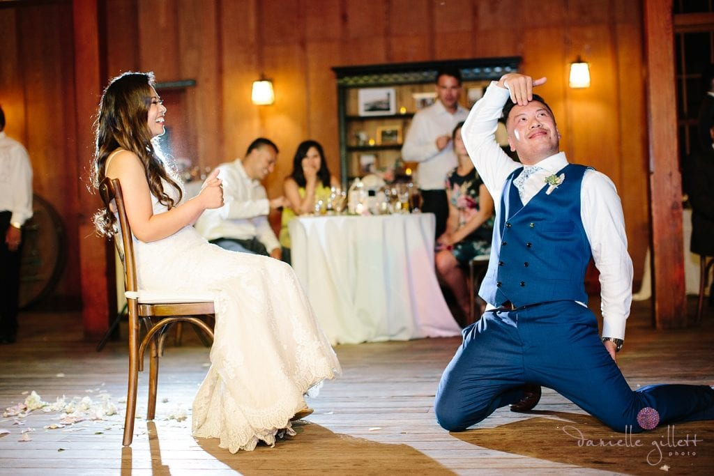 Nestldown Wedding, First Dance in the barn at Nestldown