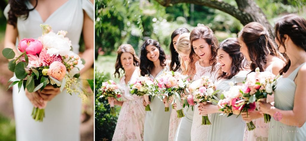 Nestldown Wedding, Bride with Bridesmaids