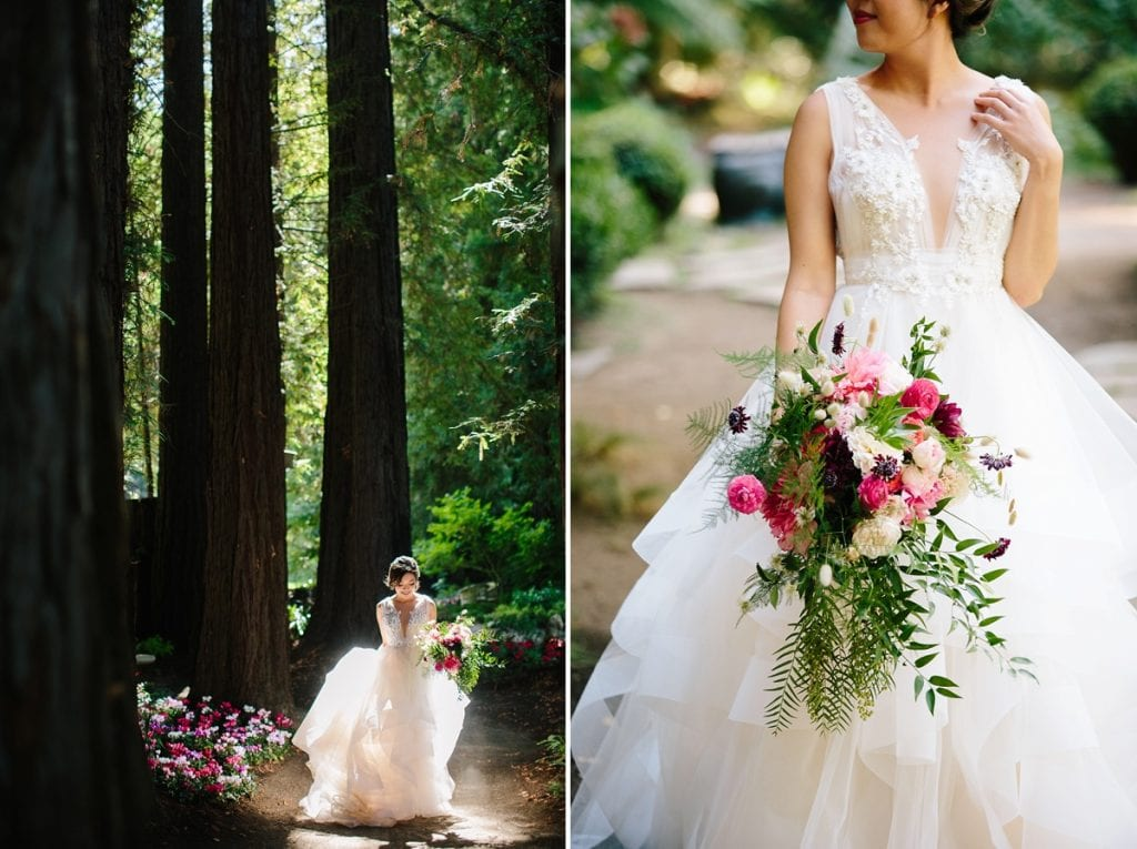 Nestldown Wedding Photography Bride in Redwoods
