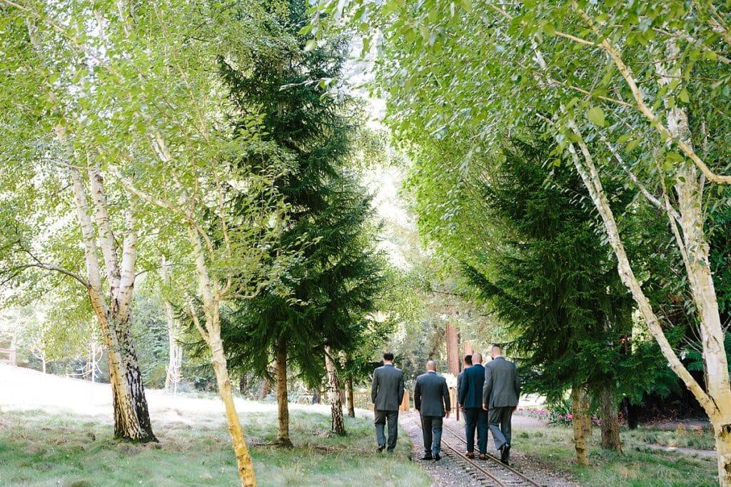 Nestldown Wedding Photography Groomsmen in Redwoods