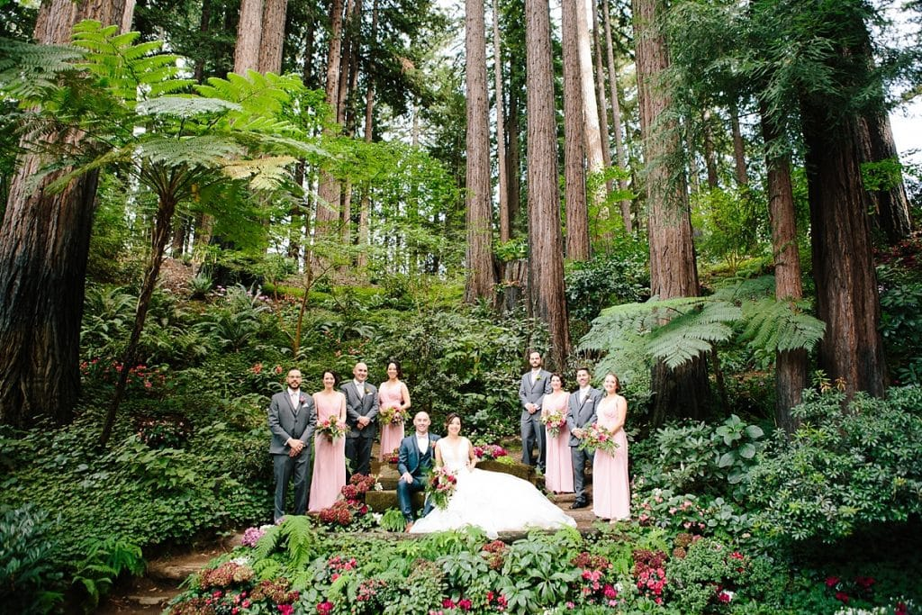 Nestldown Wedding Photography Bridal Party in Redwoods