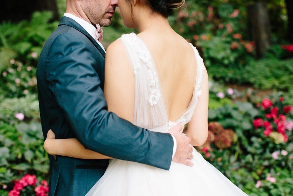 Nestldown Wedding Photography Bride and Groom in Redwoods