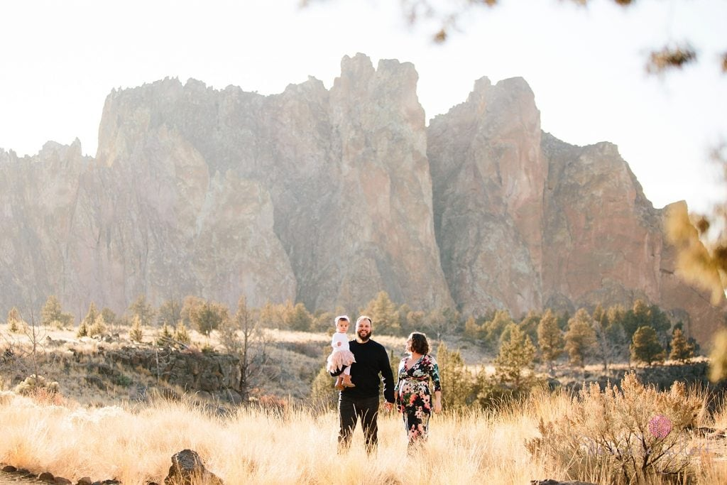 Family Photography at Smith Rock in Bend Oregon. Family walking