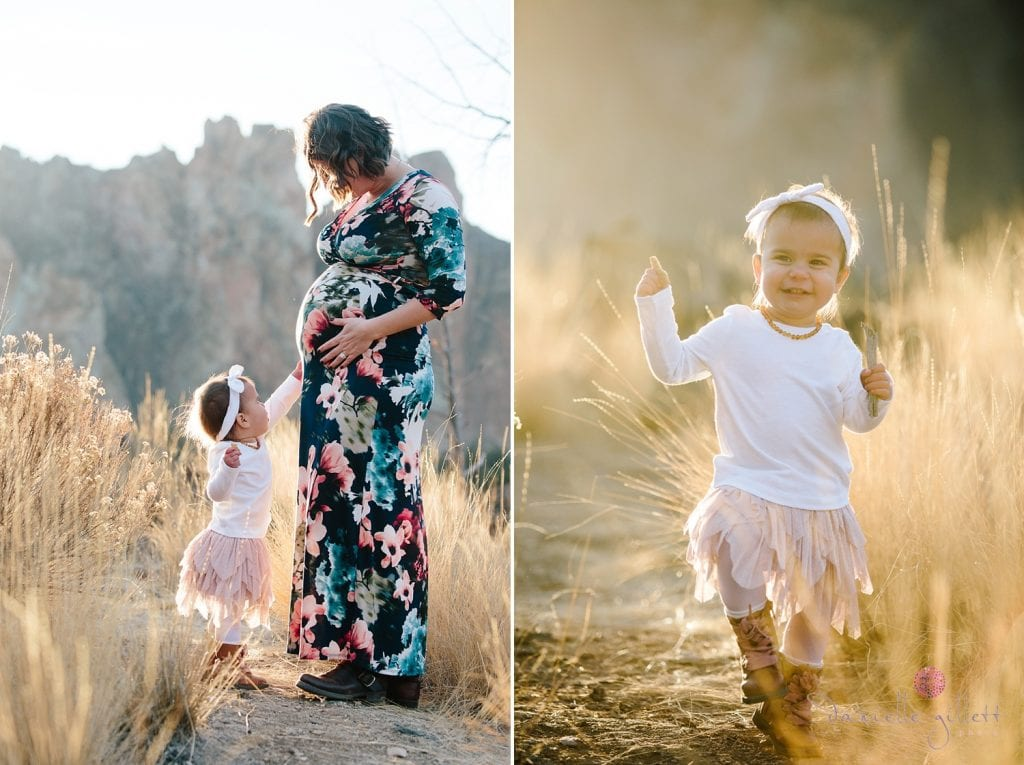 Central Oregon Family Photography at Smith Rock. Smith Rock Family mini sessions. Mom and baby at smith rock