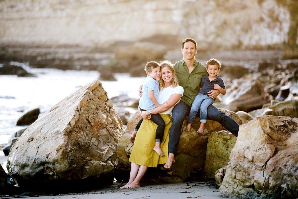 Beach Family Photos in Santa Cruz. Outdoor family photos at beach.