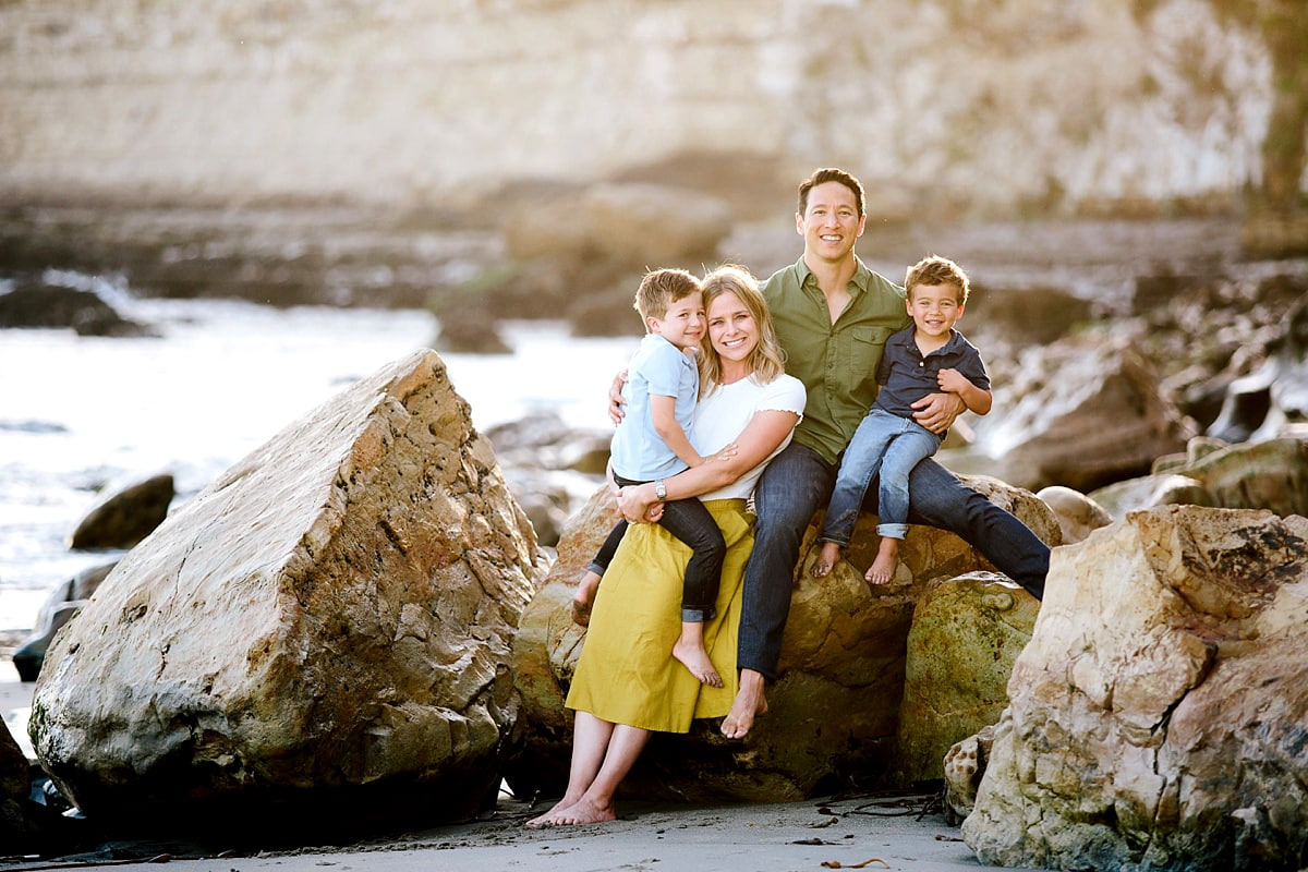 Beach Family Photos in Santa Cruz. Outdoor family photos at beach.