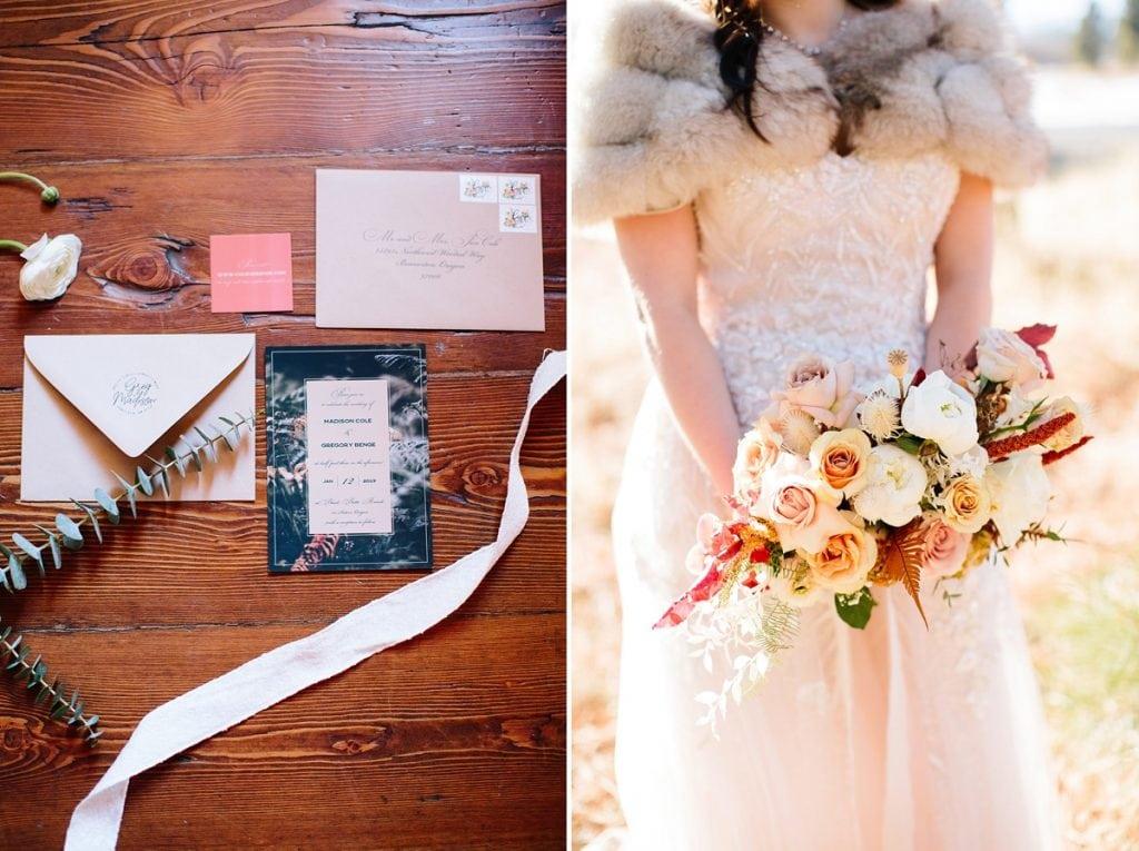 Bend Wedding Photography. Black Butte Ranch Wedding. Invitation Suite