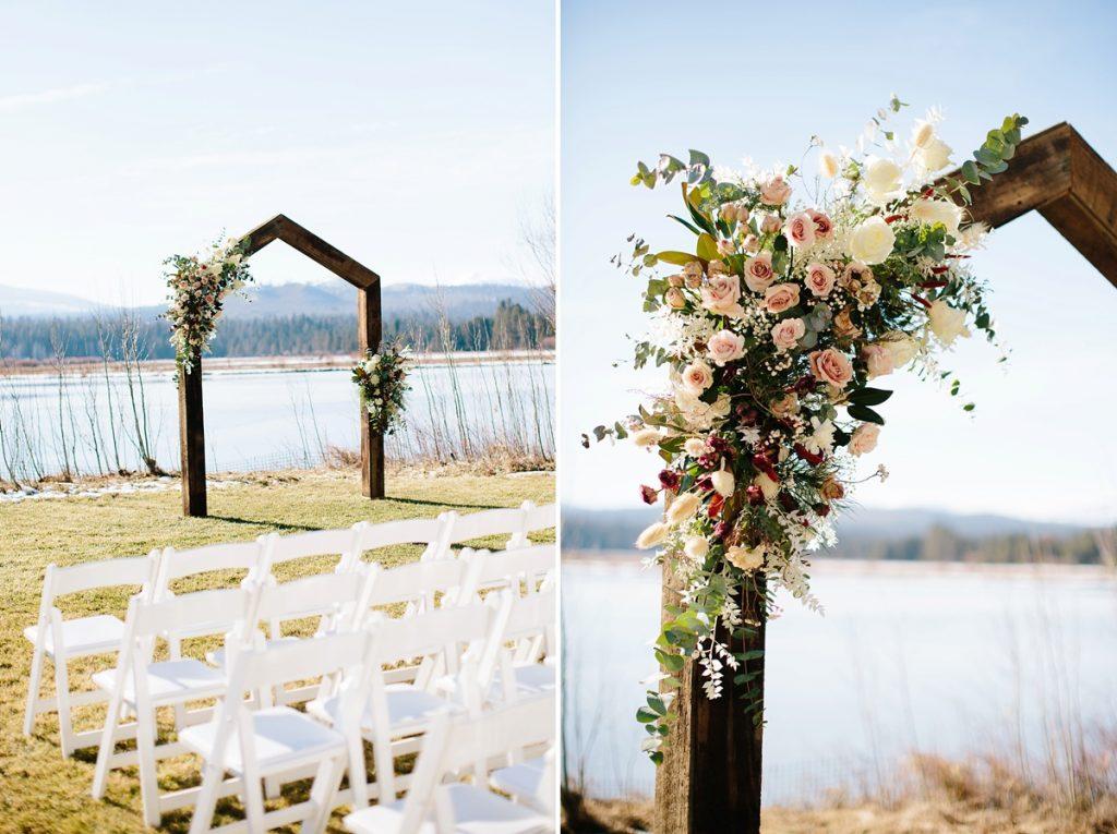 Bend Wedding Photography. Black Butte Ranch Wedding. Wedding Ceremony Arch
