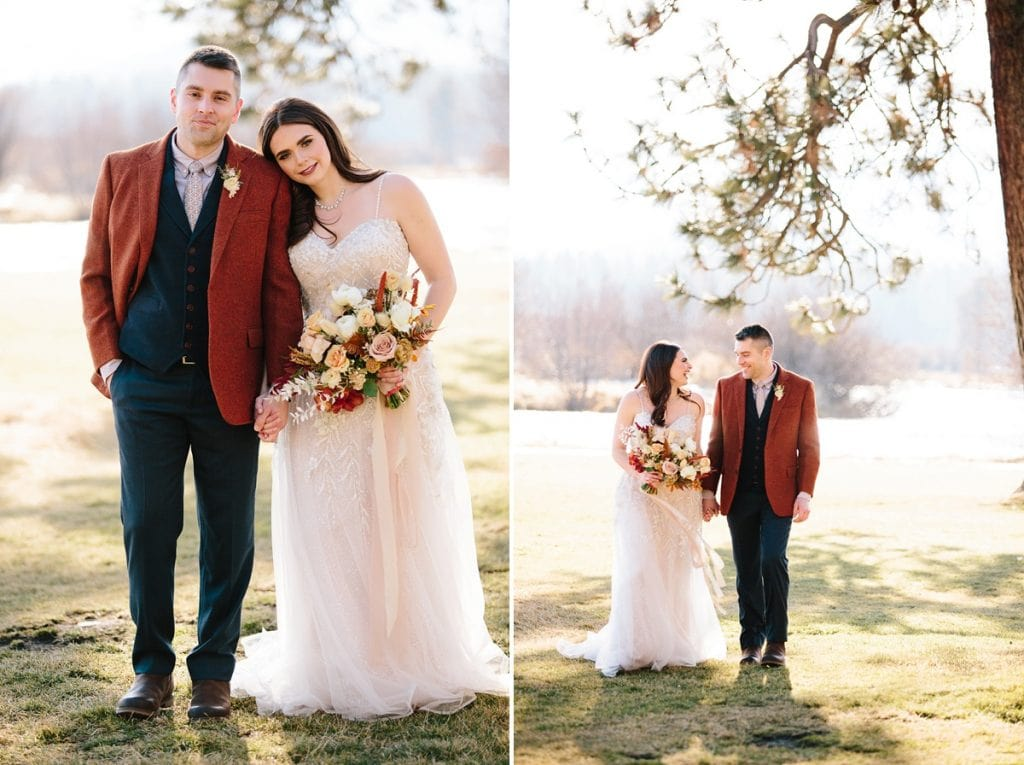 Bend Wedding Photography. Black Butte Ranch Wedding. Bride and Groom