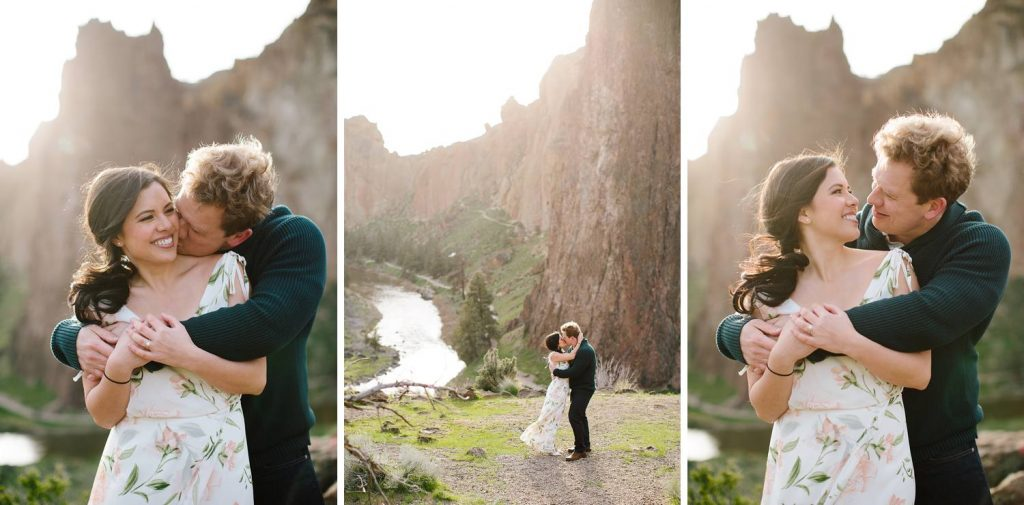 Smith Rock Engagement photos, Bend Wedding photographer, Engagement pictures at smith rock, Bend Oregon, outdoor adventurous engagement pictures