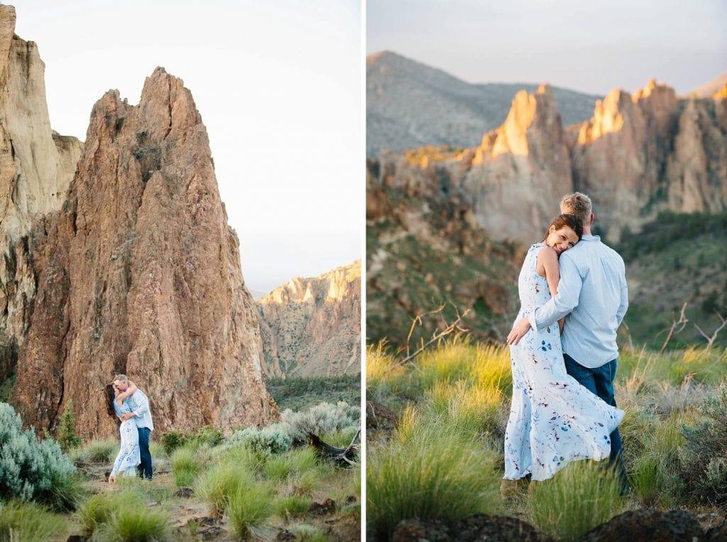 Smith Rock Engagement photos, Bend Wedding photographer, Engagement pictures at smith rock, Bend Oregon, Central Oregon engagement photography, outdoor Bend engagement pictures