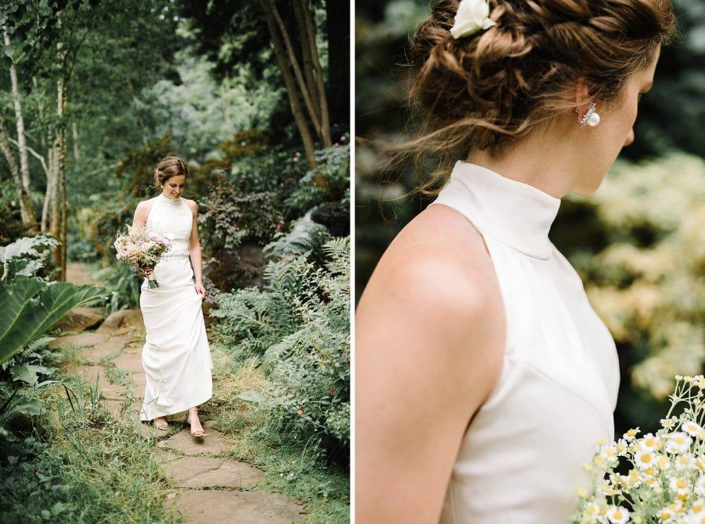 Bride at Nesldown Wedding