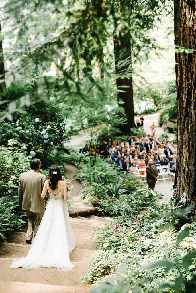 Nestldown Redwood Wedding Ceremony. Wedding Ceremony in the Redwoods. Same sex marriage.