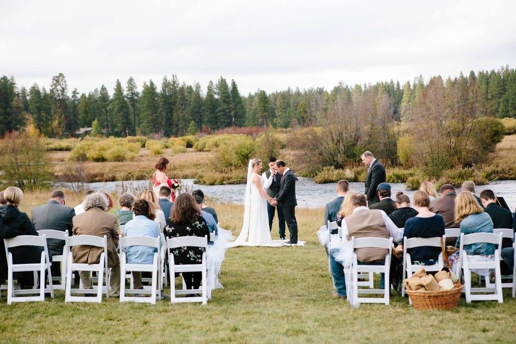 Bend Oregon Wedding Photo. Wedding at House on Metolius.